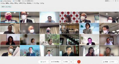 WebEXを使ったオンライン理事会の画面