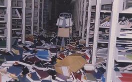 閉架式図書庫内も