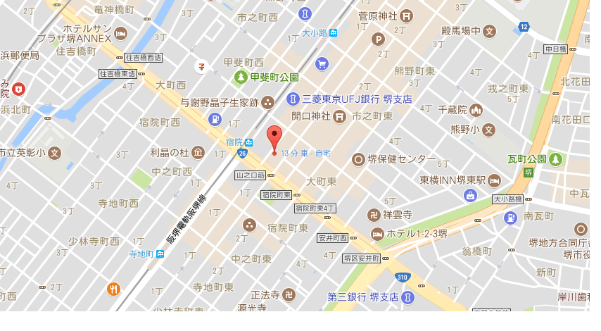 日本料理もち月一味庵の地図